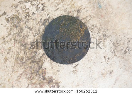 leather drum texture - stock photo