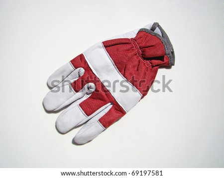 leather glove for safety protection equipment