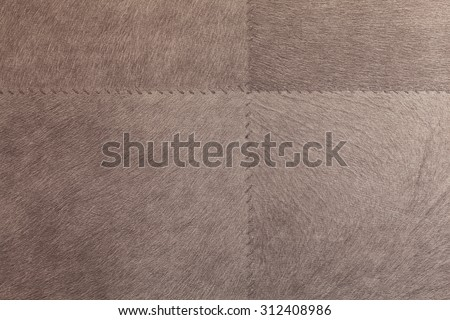 Leather goods, sewn patches - stock photo