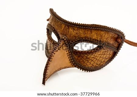 Leather Italian half mask - stock photo