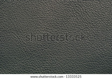 Leather of black color - stock photo