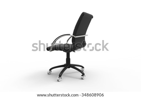 Leather Office Chair 05 - stock photo