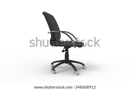 Leather Office Chair 03 - stock photo