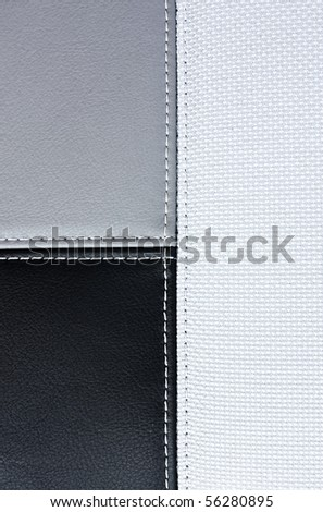 leather sewing textile texture for background - stock photo