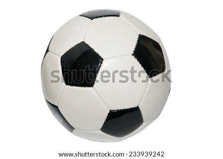 leather soccer ball for sports competition - stock photo