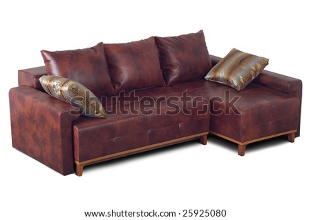 Leather sofa marble colors isolated on a white background.