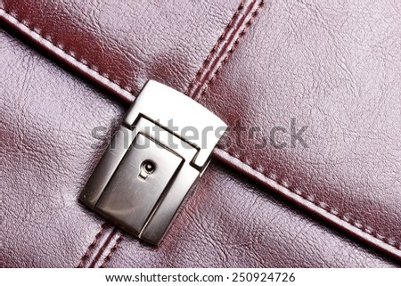 Leather suitcase texture. - stock photo
