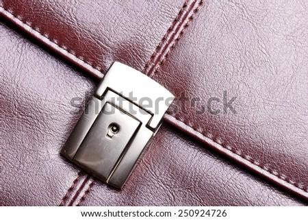 Leather suitcase texture. - stock photo