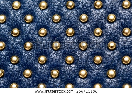 leather texture with gold beads