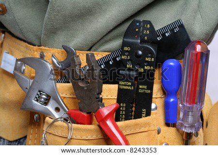 Leather tool belt