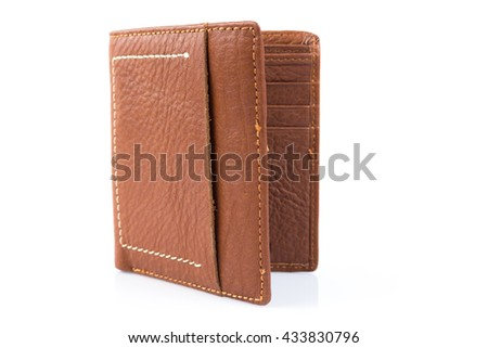 leather wallet on a white