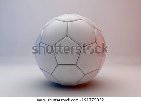 Leather white football. Soccer ball  - stock photo