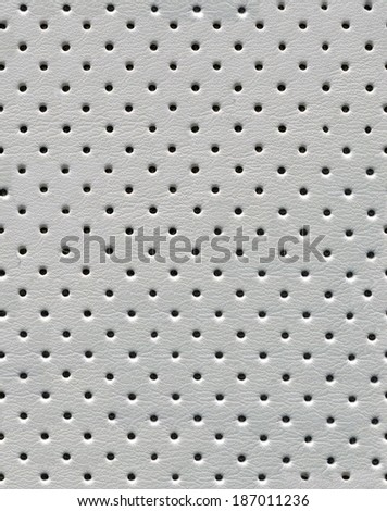 Leather with dot pattern background - stock photo