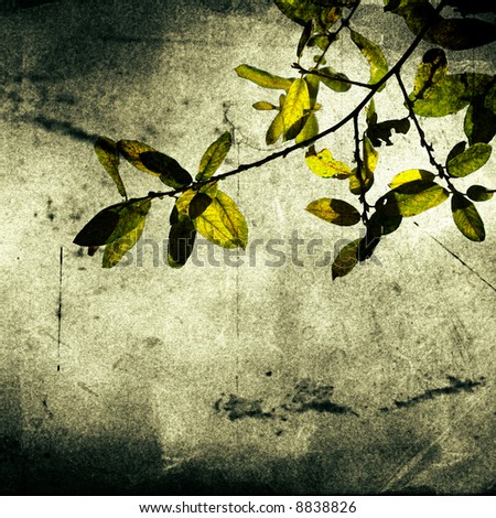 Leaves Vintage background - paper - stock photo
