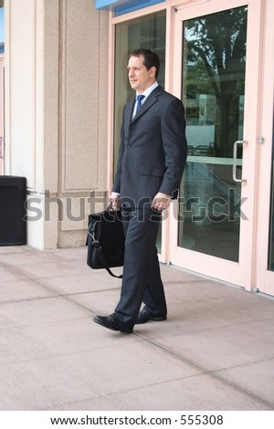 Leaving the working place - stock photo