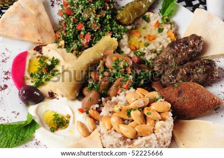 Lebanese cuisine. - stock photo