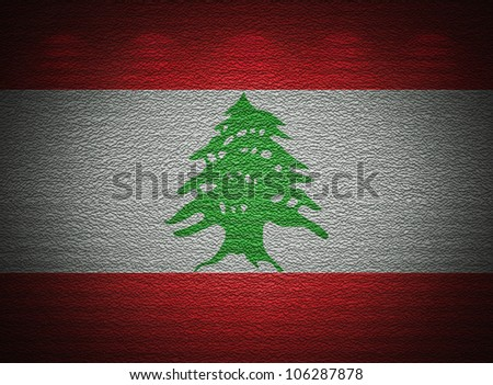 Lebanese flag wall, abstract grunge background