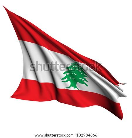 Lebanon flag - collection no_4 - stock photo