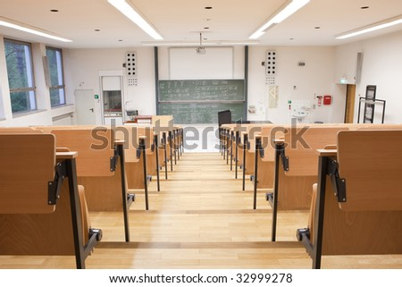 lecture hall - stock photo