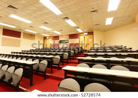 lecture room of university