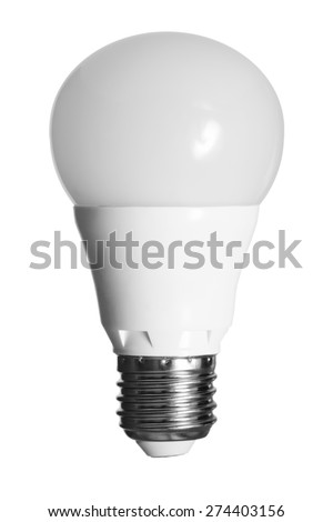 led bulb isolated with clipping path - stock photo