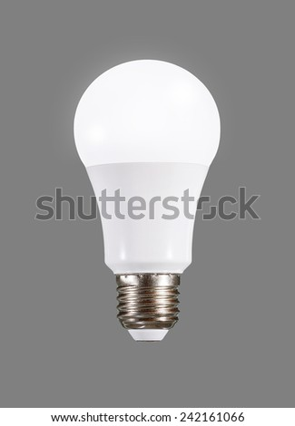 LED bulb with E27 socket, plastic body