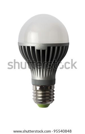 LED energy saving bulb. Light-emitting diode. Isolated object - stock photo
