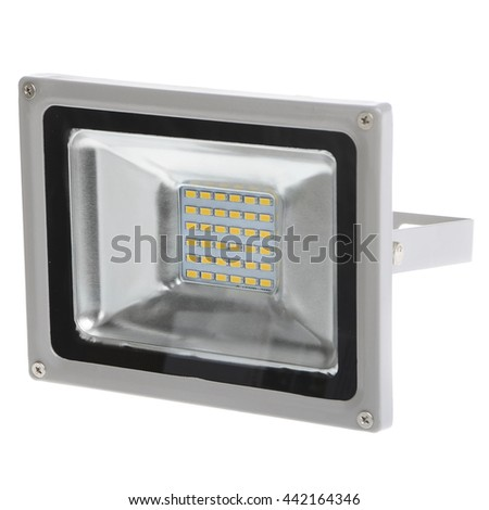 led floodlight on white background