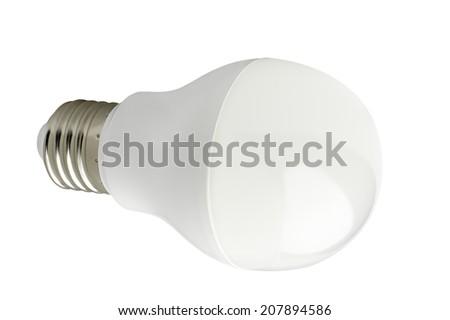 LED lamp isolated on a white background. - stock photo