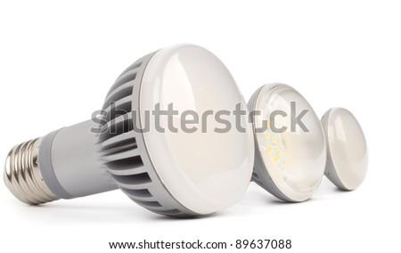 LED lamps three - stock photo