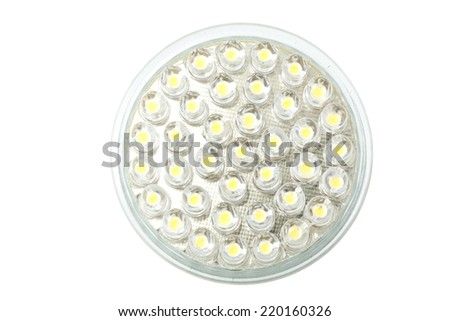 Led light globe on white background - stock photo
