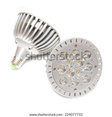 Led Light Lamp isolated on white background. - stock photo