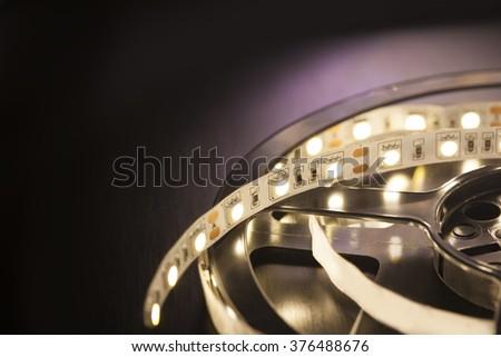 Led light strip - stock photo