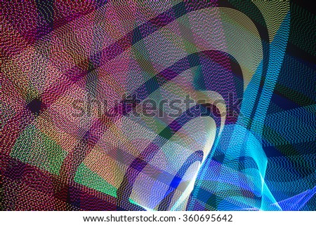 LED light trails in space - stock photo