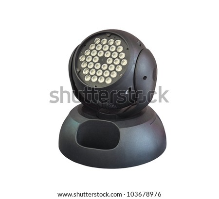 led lighting moving head for event and concert stage on isolated background - stock photo