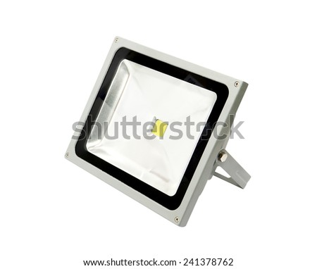 LED spotlight isolated on white background. - stock photo