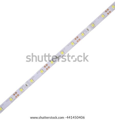 LED tape on white background