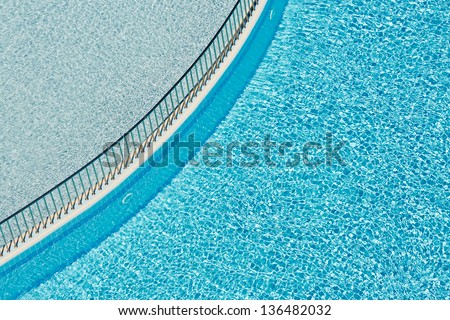 Ledge separating two pools - stock photo
