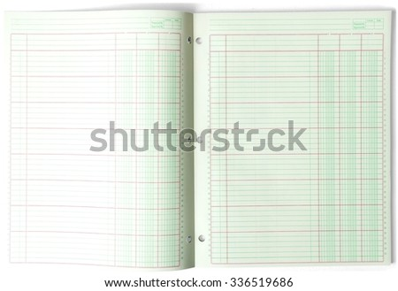Ledger Book - Isolated - stock photo