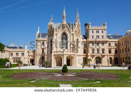 Lednice chateau, Czech Republic, Europe - stock photo
