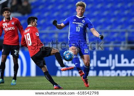 Lee Jongho Blue Ulsan Hyundai FC Stock Photo (Safe to Use) 618542798