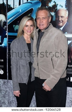 "Lee Majors and wife  at HBO's ""His Way"" Los Angeles Premiere, Paramount Studios,  Hollywood, CA 03-22-11"