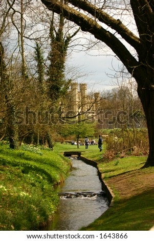 leeds castle uk - stock photo