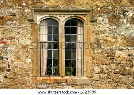 leeds castle window  uk - stock photo