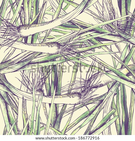 Leek Seamless Pattern