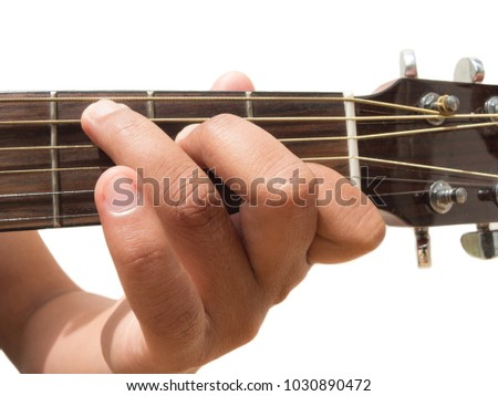 Left Hand Gesture Chord C Guitar Stock Photo Royalty Free