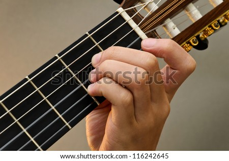 Left Hand Position Basic Chord Classic Stock Photo (Royalty Free ...
