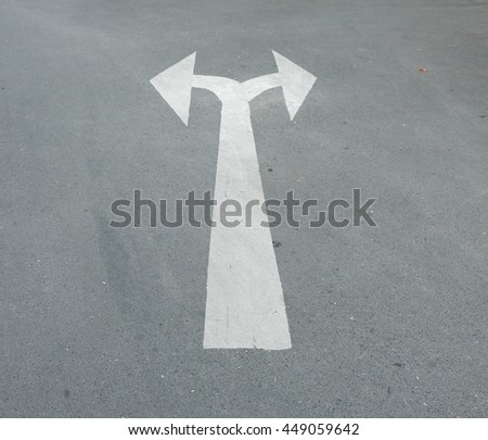 Left or right signs on the road symbol  - stock photo