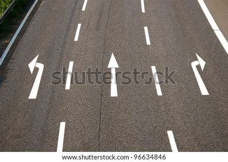 Left, straight, right? - stock photo
