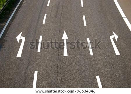 Left, straight, right? - stock photo